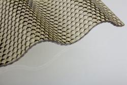 Lichtplatten aus Acrylglas 76/18 Welle bronce 3,0 mm WABE