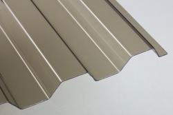 Lichtplatten aus PVC 70/18 Trapez bronce 1,4 mm