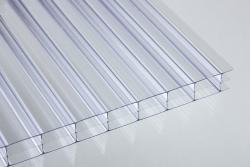 16 mm Stegdreifachplatten farblos Polycarbonat