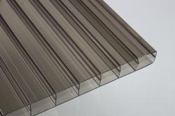 16 mm Stegdreifachplatten bronce