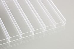16 mm Stegdoppelplatten Acrylglas klar