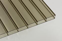 16 mm Stegdoppelplatten Acrylglas bronce