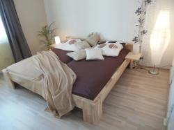 Massivholz-Doppelbett 200x220cm 27mm Kerneschenleimholz